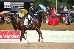 Sergeenkova Olga, (RUS), Kartsevo Etoile<br /> First Qualifier 6 years old horses<br /> World Championship Young Dressage Horses - Verden 2015<br /> © Hippo Foto - Dirk Caremans<br /> 07/08/15