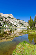 Elizabeth Lake under Unicorn Peak, Tuolumne Meadows, Yosemite National Park, California USA