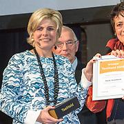 NLD/Amsterdam/20160121 - Uitreiking Taalhelden prijzen 2016 door Prinses Laurentien, Prinses Laurentien en Hank Gronheid