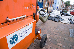 High volume pump (HVP) drains away flood water after torrential rain caused flooding in Oxford and the Thames Valley area; July 2007,