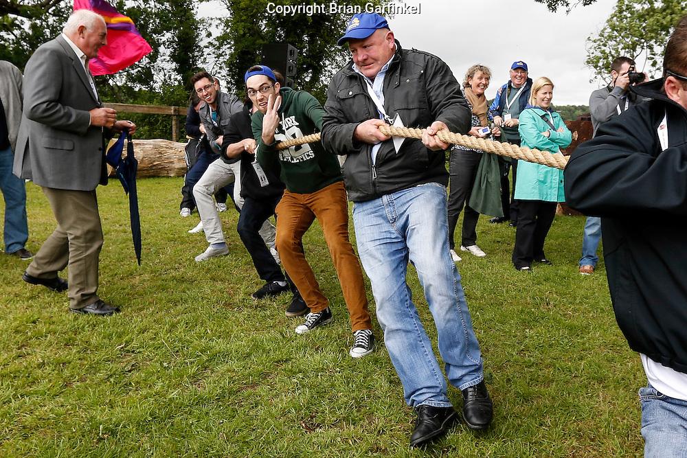Caulfield's during the Tug of War at the Caulfield/Mulryan family reunion at Ardenode Stud, County Kildare, Ireland on Sunday, June 23rd 2013. (Photo by Brian Garfinkel)