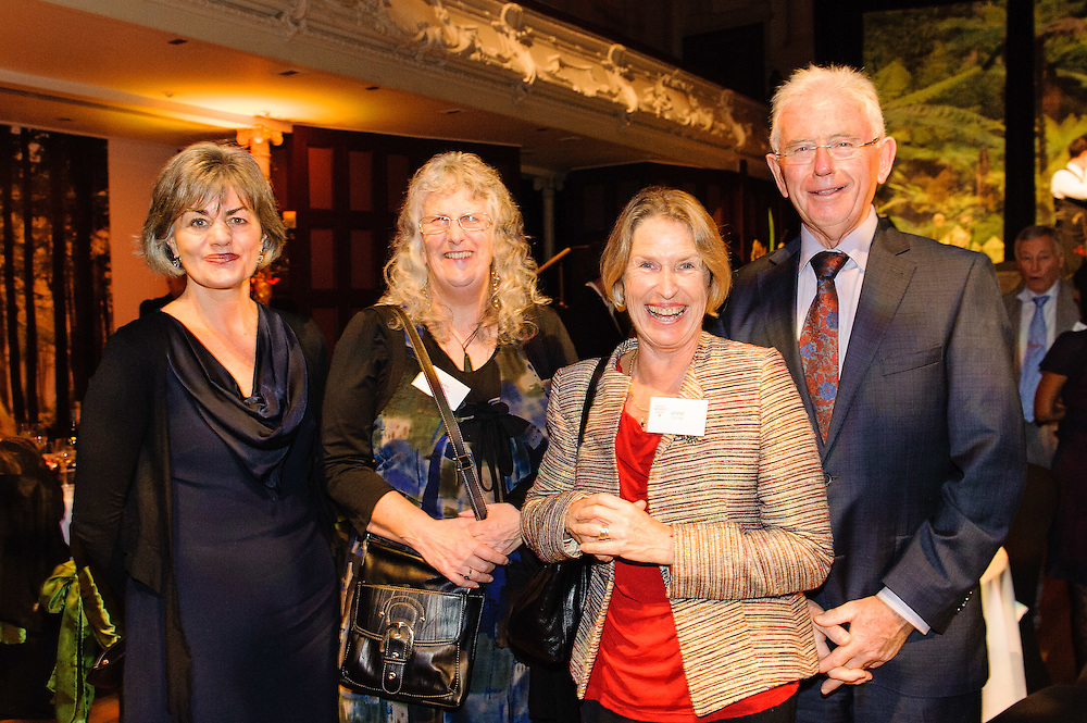 BAGG Chair Nicola Legat, Booksellers Board Chair Mary Sangster, Anne Collins and Michael Cullen<br /> <br /> 2014 New Zealand Post Children's Book Awards: Auckland Town Hall. Monday 23 June 2014. <br /> <br /> Photo: Mark Tantrum / Booksellers New Zealand.