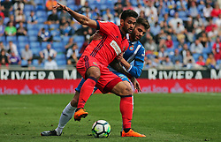 March 11, 2018 - Barcelona, Catalonia, Spain - Willian Jose and David Lopez during the match between RCD Espanyol and Real Sociedad, for the round 28 of the Liga Santander, played at the RCD Espanyol Stadium on 11th March 2018 in Barcelona, Spain. (Credit Image: © Joan Valls/NurPhoto via ZUMA Press)