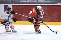 Tomo Hafner at Erste Bank Eishockey Liga (EBEL) 2008/2009 match between HK Acroni Jesenice and Eishockeyclub Graz 99ers, on January 9, 2009, in Dvorana Podmezaklja, Jesenice, Slovenia. (Photo by Vid Ponikvar / SportIda).