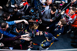 February 26, 2019 - Barcelona, Barcelona, Spain - Pierre Gasly from France with 10 Aston Martin Red Bull Racing - Honda RB15  portrait during the press conference during the Formula 1 2019 Pre-Season Tests at Circuit de Barcelona - Catalunya in Montmelo, Spain on February 26. (Credit Image: © AFP7 via ZUMA Wire)