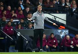 Liverpool manager Jurgen Klopp during the UEFA Champions League, Quarter Final at the Etihad Stadium, Manchester.