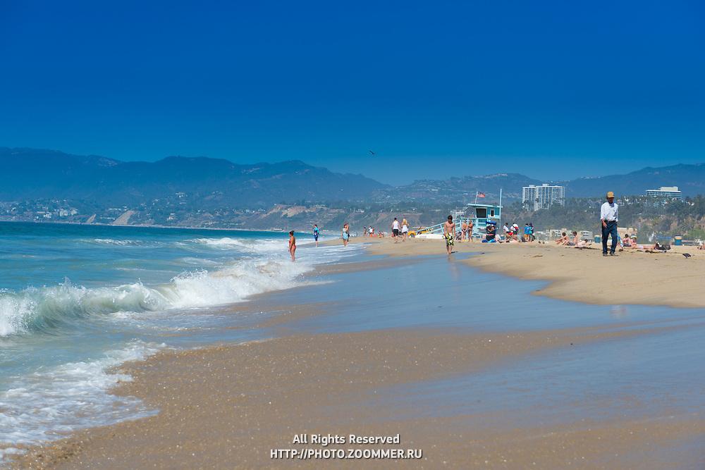 Santa Monica beach in Los Angeles, California