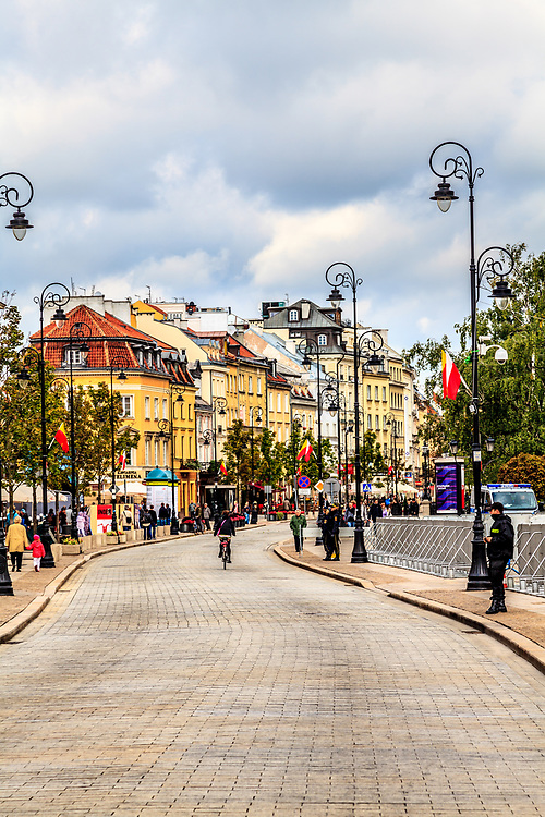 Warsaw's Royal Route  - Krakowskie Przedmieście in Warsaw, Poland. Most of the monuments and historical places worth to see in Warsaw are conveniently situated along the street.