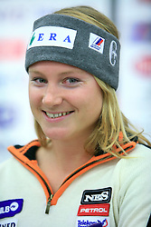 Ana Drev at press conference of Slovenian men and women alpine skiing national team before new season 2008/2009 in Hervis, City park, BTC, Ljubljana, Slovenia, on October 20, 2008.  (Photo by: Vid Ponikvar / Sportal Images)