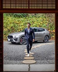 """Johannes Huebl releases a photo on Instagram with the following caption: """"My amazing @maserati experience in Tokyo and the countryside of Japan now in film \ud83c\udf9e \n#soundon\ud83d\udd0a #MaseratiJapaneseTale #MaseratiLevante #MaseratiLevanteTrofeo"""". Photo Credit: Instagram *** No USA Distribution *** For Editorial Use Only *** Not to be Published in Books or Photo Books ***  Please note: Fees charged by the agency are for the agency's services only, and do not, nor are they intended to, convey to the user any ownership of Copyright or License in the material. The agency does not claim any ownership including but not limited to Copyright or License in the attached material. By publishing this material you expressly agree to indemnify and to hold the agency and its directors, shareholders and employees harmless from any loss, claims, damages, demands, expenses (including legal fees), or any causes of action or allegation against the agency arising out of or connected in any way with publication of the material."""