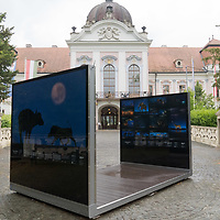 Open air exhibition of world famous Hungarian nature photographer Bence Mate is seen on a public square in front Royal Palace of Godollo in Godollo (about 35 kilometres North-East of capital city Budapest), Hungary on May 28, 2019. ATTILA VOLGYI