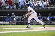 CHICAGO - JUNE 14:  Paul Konerko #14 of the Chicago White Sox bats against the Kansas City Royals on June 14, 2014 at U.S. Cellular Field in Chicago, Illinois.   (Photo by Ron Vesely)