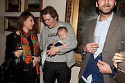 SARAH MORRIS; RUFUS CARTRIGHT; CLEMENTINE CARTRIGHT, No New Thing Under the Sun. Royal Academy. Piccadilly. London. 20 OCTOBER 2010. -DO NOT ARCHIVE-© Copyright Photograph by Dafydd Jones. 248 Clapham Rd. London SW9 0PZ. Tel 0207 820 0771. www.dafjones.com.
