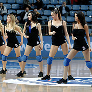 Efes Pilsen's Show girls during their Turkish Basketball league match Efes Pilsen between Erdemir at the Sinan Erdem  Arena in Istanbul Turkey on Saturday 29 January 2011. Photo by TURKPIX