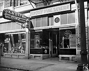 Y-481010-02.  Knotty Pine Tavern, 1321 SW Washington, Portland. Presently occupied by Scooter McQuades Cafe & Bar. Oct 10, 1948