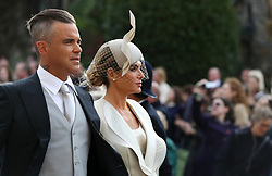Guests arrive for the wedding of Princess Eugenie to Jack Brooksbank at St George's Chapel in Windsor Castle. 12 Oct 2018 Pictured: Robbie Williams and Ayda Field. Photo credit: WPA POOL/MEGA TheMegaAgency.com +1 888 505 6342