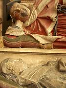 A51P7F Edmund Reve and wife tomb Long Stratton Norfolk England
