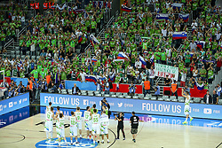 Players greet their fans after basketball match between Slovenia vs Netherlands at Day 4 in Group C of FIBA Europe Eurobasket 2015, on September 8, 2015, in Arena Zagreb, Croatia. Photo by Matic Klansek Velej / Sportida