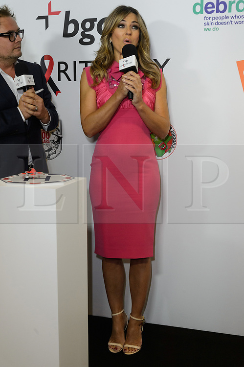 © Licensed to London News Pictures. 11/09/2017.  Photo credit: ELIZABETH HURLEY takes part in the on the annual BGC Partners Charity Day in commemoration of its 658 friends and colleagues and 61 Eurobroker employees lost in the World Trade Center attacks on 9/11. PIcture Credit: Tang/LNP