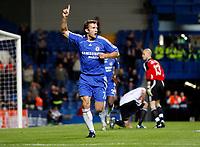 Photo: Richard Lane/Sportsbeat Images.<br />Chelsea v Rosenborg. UEFA Champions League Group B. 18/09/2007. <br />Chelsea's Andriy Shevchenko celebrates his goal.