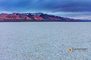 Playa at sunset with Steen Mountain on the Alvord Desert in Harney County, Oregon, USA