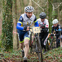 Anthony O'Halloran taking part in the Ennis CX Cyclocross Race in Lees Rd