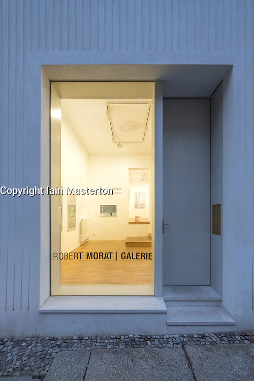 Exterior of Robert Morat gallery, an art gallery on Linienstrasse.a street with many art galleries in Mitte Berlin Germany