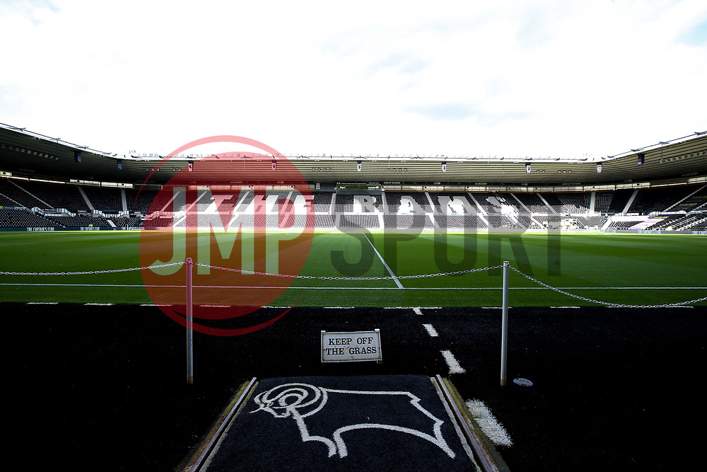 A general view of Pride Park, home to Derby County - Mandatory by-line: Robbie Stephenson/JMP - 20/08/2019 - FOOTBALL - Pride Park Stadium - Derby, England - Derby County v Bristol City - Sky Bet Championship