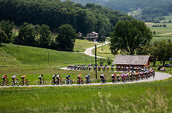 Peloton during 1st Stage of 27th Tour of Slovenia 2021 cycling race between Ptuj and Rogaska Slatina (151,5 km), on June 9, 2021 in Slovenia. Photo by Vid Ponikvar / Sportida