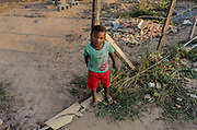 Davi, three years old lives with his mother, Mrs. Aline in Rosa Leão Occupancy, Isidoro area.