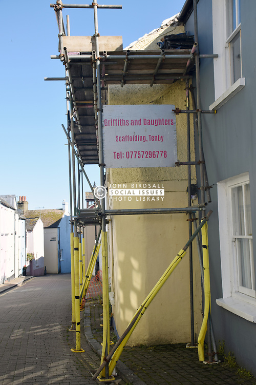 Family scaffolding firm 'and daughters' Tenby, Pembrokeshire, South Wales 2021