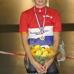ALKMAAR (NED) wielrennen<br />NK Baanwielrennen ; vrouwen; ; klassement; Adrie Visser