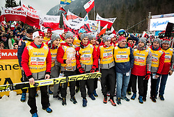 Team Poland celebrate after the Ski Flying Hill Men's Individual Competition at Day 4 of FIS Ski Jumping World Cup Final 2017, on March 26, 2017 in Planica, Slovenia. Photo by Vid Ponikvar / Sportida