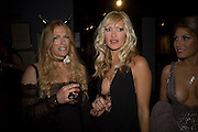 LAURA COMFORT AND CAPRICE BOURRET. Patti and Andy Wong  host a night of Surrealism to Celebrate the Chinese Year of the Rat. County Hall Gallery and Dali Universe. London. 27 January 2008. -DO NOT ARCHIVE-© Copyright Photograph by Dafydd Jones. 248 Clapham Rd. London SW9 0PZ. Tel 0207 820 0771. www.dafjones.com.