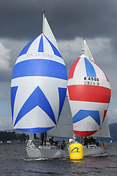 Peelport Clydeport, Largs Regatta Week 2014 Largs Sailing Club based at  Largs Yacht Haven with support from the Scottish Sailing Institute & Cumbrae.<br /> <br /> GBR4270, Sigmatic, Donald & Anita Mclaren, CCC/Helensburgh SC