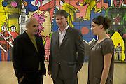 Alan Yentob, Alan Kemp and Helen Veale, Turner Prize: A Retrospective. Opening party. Tate Millbank. London. 2 October 2007. -DO NOT ARCHIVE-© Copyright Photograph by Dafydd Jones. 248 Clapham Rd. London SW9 0PZ. Tel 0207 820 0771. www.dafjones.com.