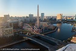 Yokohama from the Intercontinental before the Mooneyes Yokohama Hot Rod & Custom Show. Yokohama, Japan. December 5, 2015.  Photography ©2015 Michael Lichter.