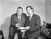 "Din Joe/Denis Fitzgibbon in Take the Floor.11/04/1957..Din Joe or Denis Fitzgibbon a comedian and compere of RTE's ""Take the Floor"""