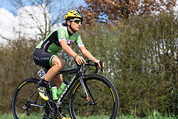 Valentina Scandolara riding back to fitness after a recent illness - Grand Prix de Dottignies 2016. A 117km road race starting and finishing in Dottignies, Belgium on April 4th 2016.