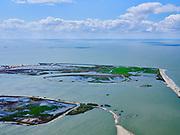 Nederland, Flevoland, Markermeer, 07-05-2021; Marker Wadden in het Markermeer. Gezien vanuit Oosten.<br /> Doel van het project van Natuurmonumenten en Rijkswaterstaat is natuurherstel, met name verbetering van de ecologie in het gebied, in het bijzonder de kwaliteit van bodem en water. De Marker Wadden archipel bestaat momenteel uit vijf eilanden, twee nieuwe eilanden zijn in ontwikkeling.<br /> Marker Wadden, artifial islands. The aim of the project is to restore the ecology in the area, in particular the quality of soil and water.<br /> The Marker Wadden archipelago currently consists of five islands, two new islands are under development.<br /> luchtfoto (toeslag op standard tarieven);<br /> aerial photo (additional fee required)<br /> copyright © 2021 foto/photo Siebe Swart