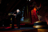 Dr. Henry Kissinger gives a speech prior to presenting The Directorate Award to Professor Markus Schächter at the 37th International Emmy Awards Gala in New York on Monday, November 23, 2009.  ***EXCLUSIVE***