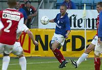 Fotball. Eliteserien Vålerenga - Bryne 1-1 Ullevål 14. august 2002. Ronny Døhli, VIF.<br /> <br /> Foto: Andreas Fadum, Digitalsport