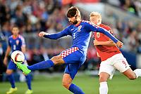 Fotball , 6. september 2015 , EM-kvalifisering , Norge - Kroatia<br /> Euro-qual. men , <br /> Norway - Croatia<br /> Vedran Corluka , Kroatia