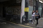 Street scene in Soho in London, England, United Kingdom.