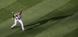 July 1, 2017 - St Louis, MO, USA - Washington Nationals right fielder Bryce Harper catches a line drive by the St. Louis Cardinals' Tommy Pham in the third inning on Saturday, July 1, 2017, at Busch Stadium in St. Louis. The Cards won, 2-1. (Credit Image: © Chris Lee/TNS via ZUMA Wire)