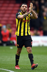 Watford's Troy Deeney applauds the fans after the final whistle
