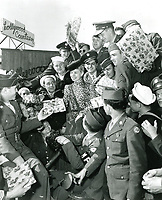 1943 Irene Manning at Christmas at the Hollywood Canteen