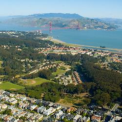 Aerial view of the Presidio San Francisco  California