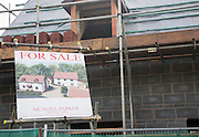 Two newly built detached house for sale on a small property development site, Shottisham, Suffolk, England
