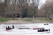 Putney. LONDON. GREAT BRITAIN. Pre Boat race Fixture, Oxford University Women's Boat Club vs Molesey Boat Club, over the Championship Course, Putney to Mortlake.<br /> <br /> Sunday  {DATEP<br /> <br /> [Mandatory Credit; Peter SPURRIER/Intersport Images]